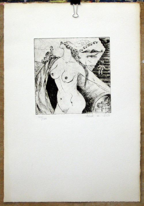 Nude On Mixed Landscape by Hadasa Stoler